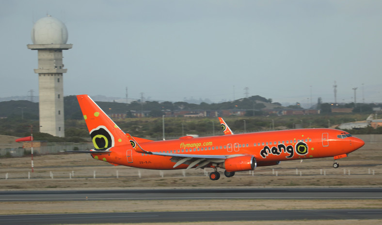 A Mango Boeing 737-800 passenger aircraft lands at Cape Town International airport in Cape Town, South Africa, January 12, 2018.
