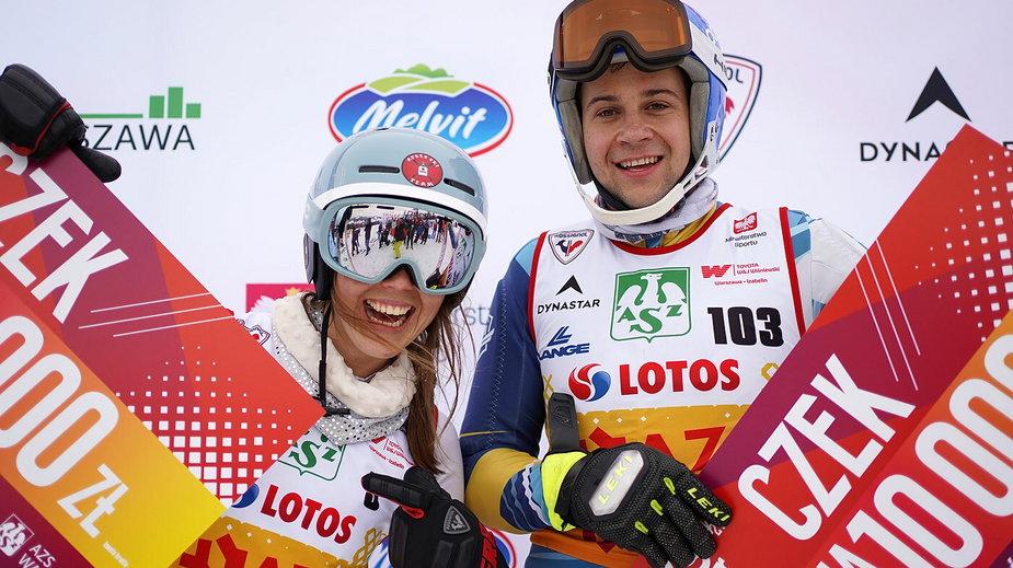 AZS Winter Cup: Katarzyna Wąsek i Paweł Jaksina.