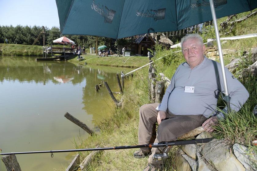 Andrzej Turski na zawodach aktorów w łowieniu ryb