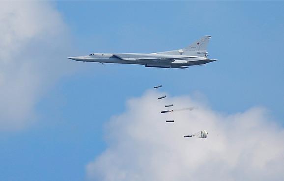 Rsuki bombarder Tu-22 angažovan je na bombardovanju u Siriji