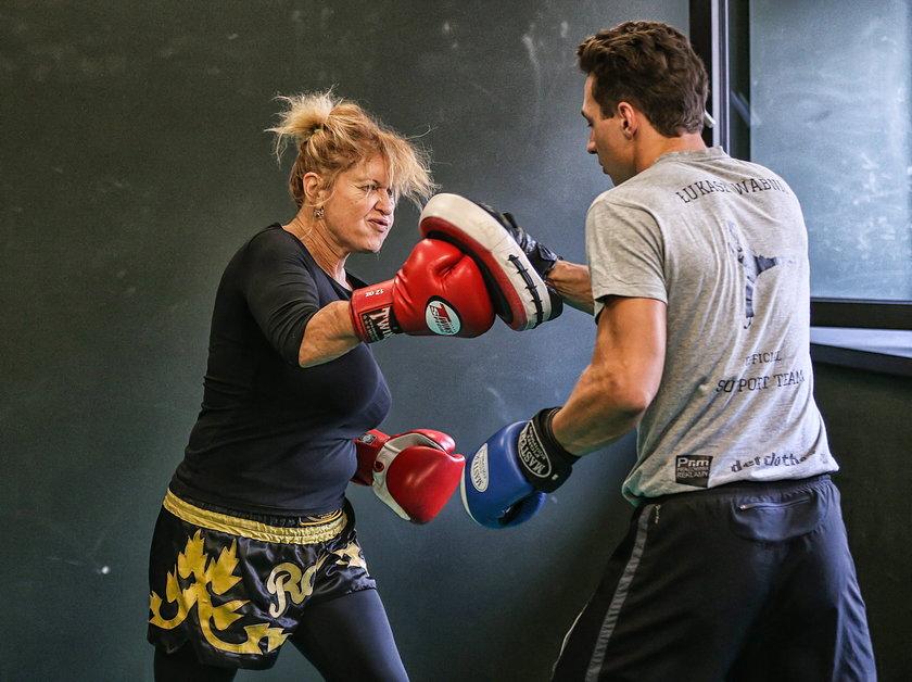 Bokserki trening Ewy Kasprzyk
