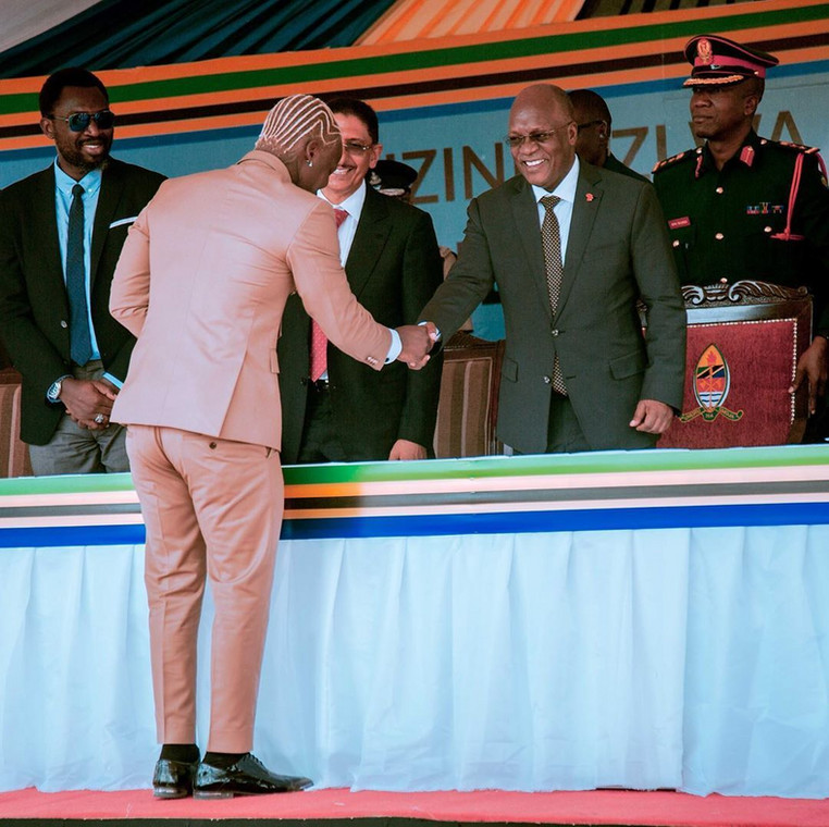 Image result for harmonize performing for magufuli