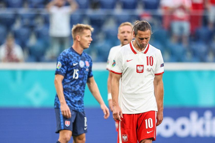 Krychowiak dostał czerwoną kartkę w pierwszym meczu Polaków na Euro.