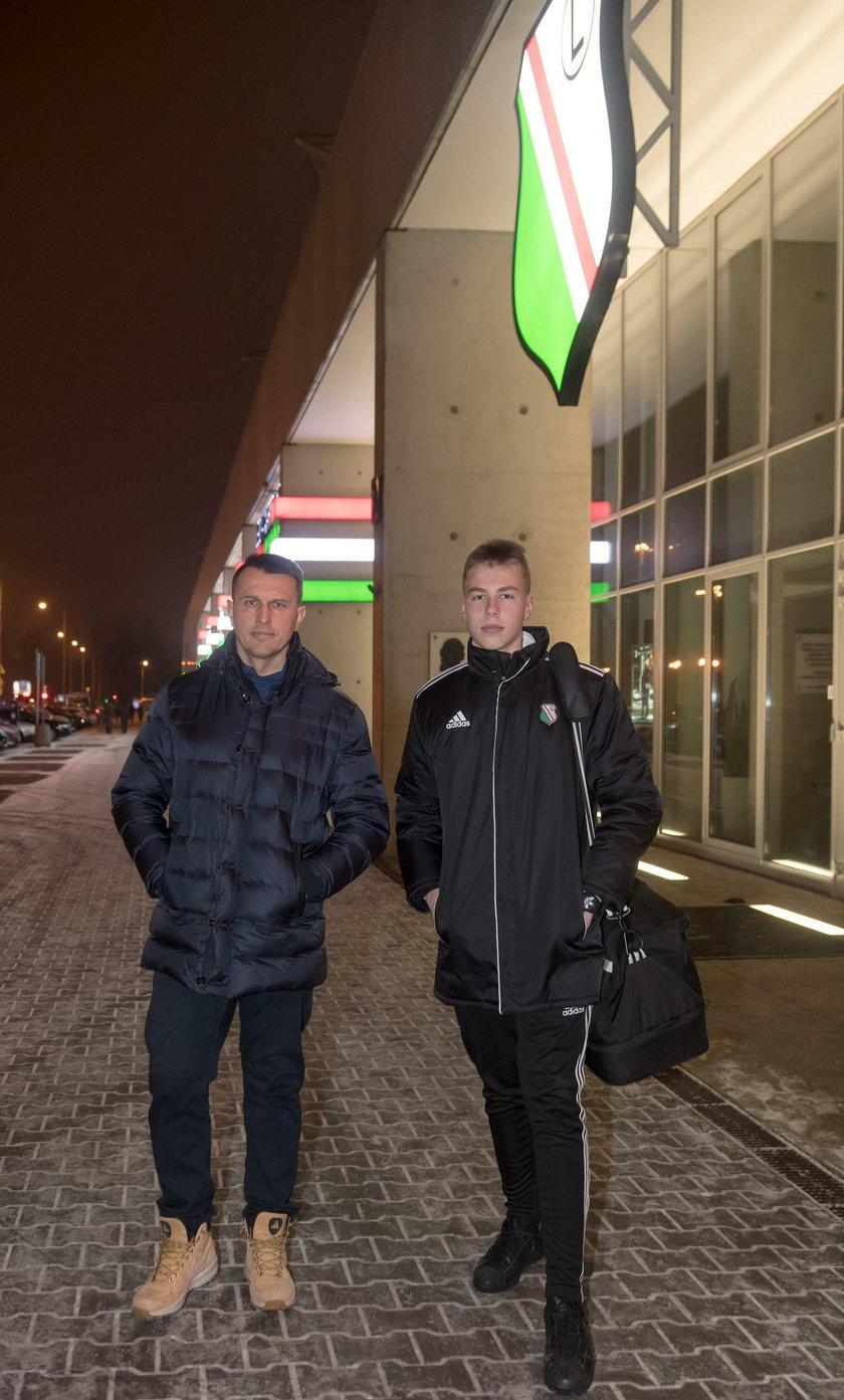 Jakub Ojrzynski Leszek Ojrzynski. Legia Warszawa Akademia Pilkarska. 05.02.2017