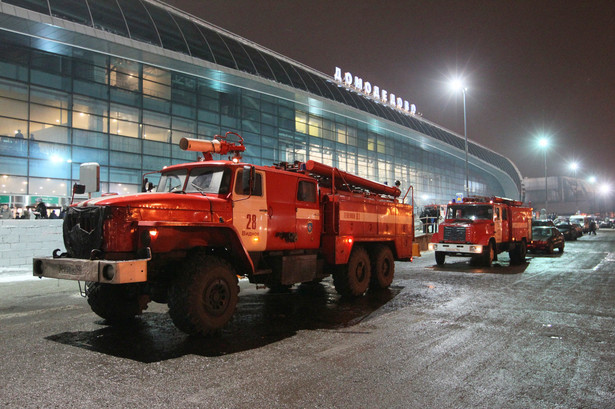 Na lotnisku Domodiedowo w Moskwie doszło do ataku samobójcy-zamachowca. Fot. PAP/EPA/SERGEI CHIRIKOV