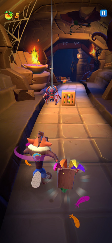 Crash Bandicoot: On the Run - screenshot z gry (wersja na Androida)