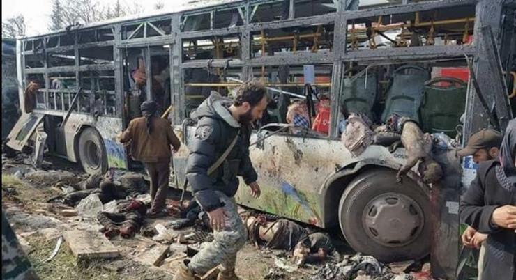Sirija, Napad, Bomba