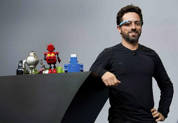 Sergey Brin w Google Glass podczas I/O Google