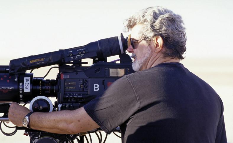 """George Lucas, reżyser """"Gwiezdnych Wojen"""" za kamerą"""