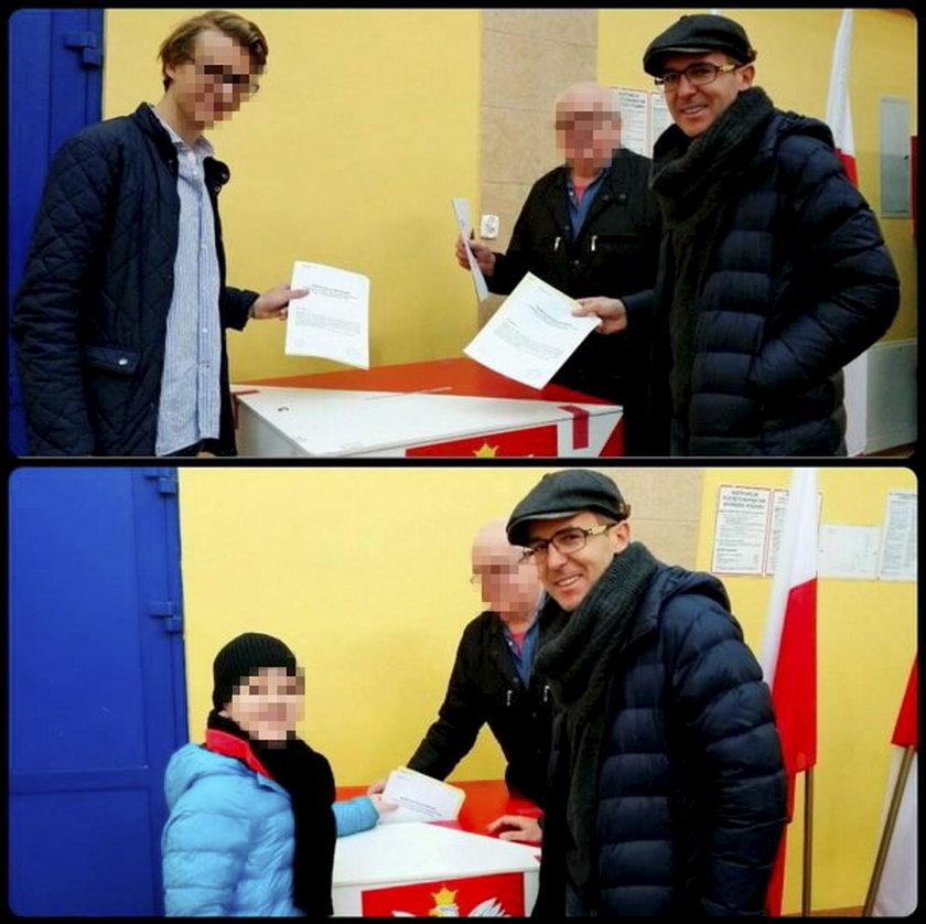 Maciej Kurzajewski głosuje w wyborach