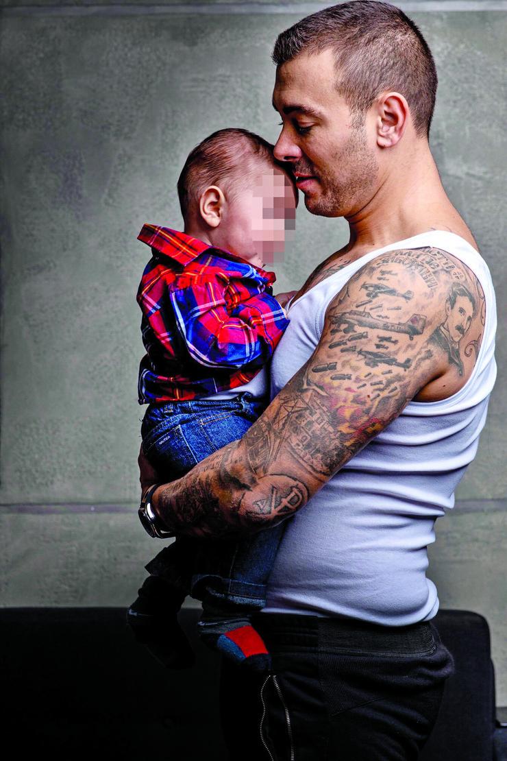 Uroš Ćertić sa sinom