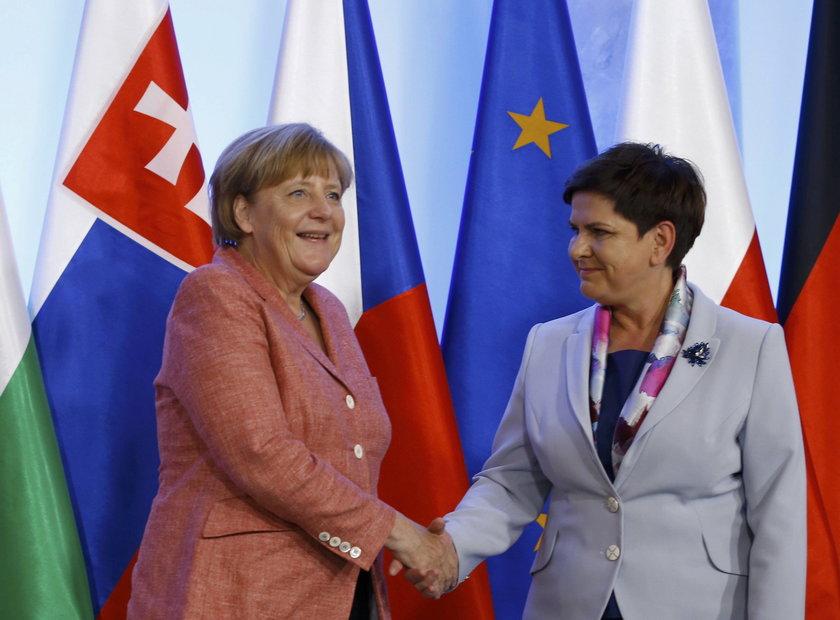 Angela Merkel na spotkaniu z Beatą Szydło