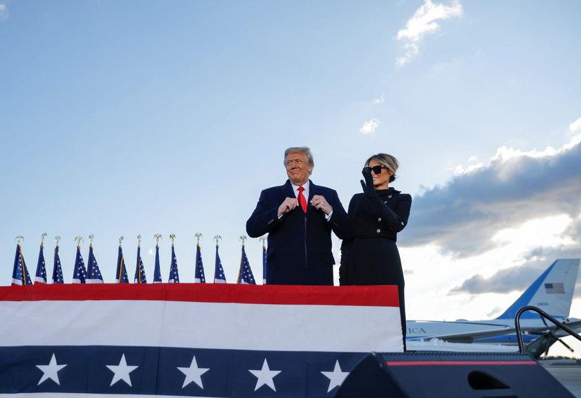 U.S. President Trump departs the White House