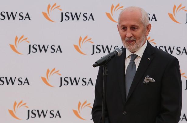 """Prezes JSW Włodzimierz Hereźniak podczas oficjalnego otwarcia nowej kopalni """"Bzie-Dębina"""""""