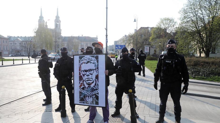 Protest przed siedzibą Sądu Najwyższego