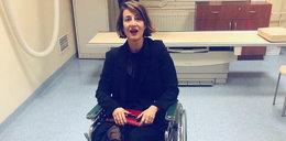 Maja Ostaszewska miała wypadek. Zdjęcie na wózku