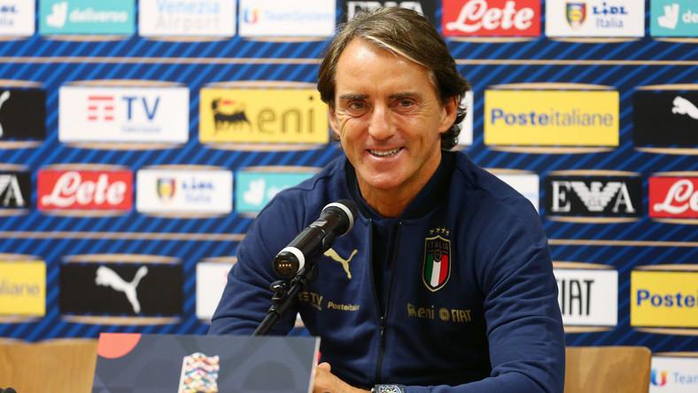 Konferencja prasowa Roberto Manciniego przed meczem z Polską w Gdańsku w październiku 2020 r.