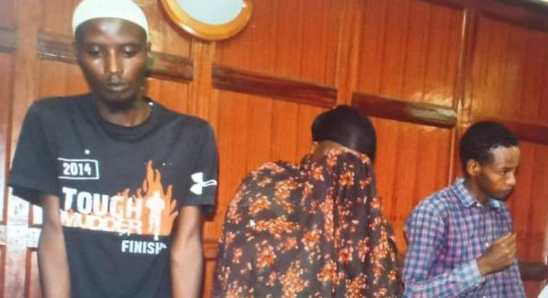 Ali Gichunge's mother, Sakina Mariam Abdalla in court together with others linked in the Dusit complex attack