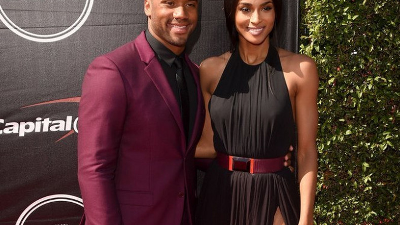 4ec93c75d01 Ciara and Russell Wilson on the ESPY Red Carpet