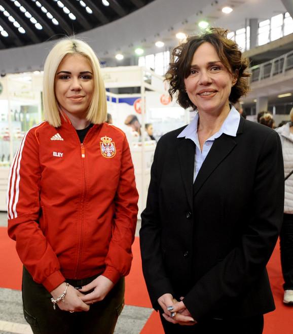 Jasna Šekarić sa ćerkom Leom Aleksić pre dve godine