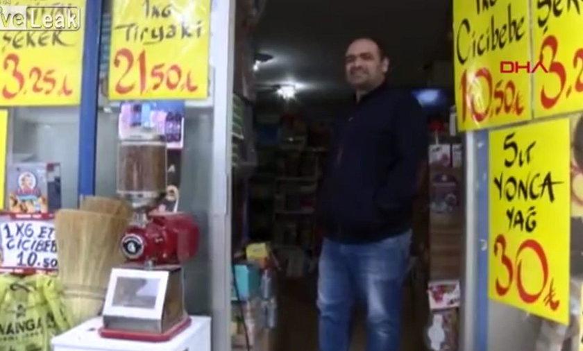 Uratowany sklepikarz