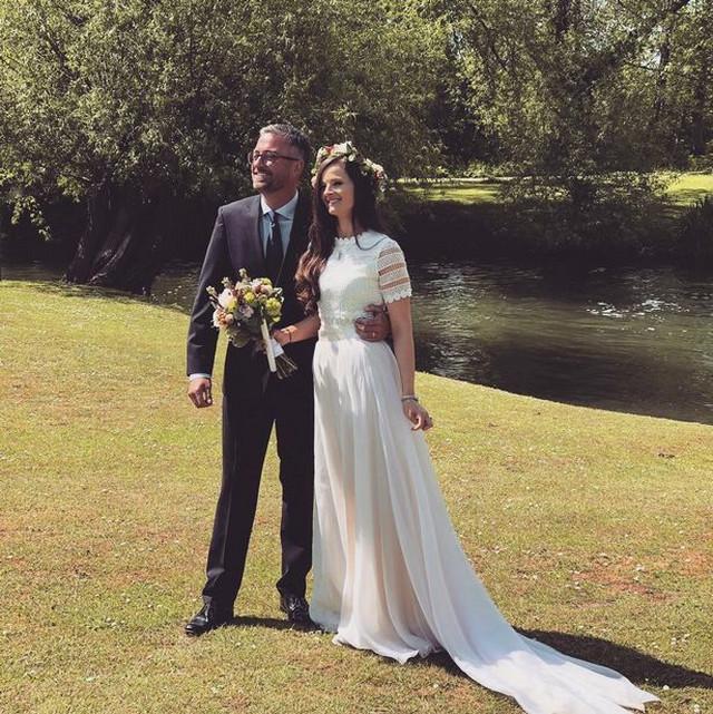 Na venčanju sa mužem Metjuom