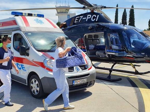 Evakuacija prevremeno rođenih beba iz Trebinja