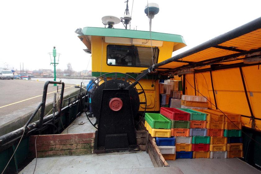 Pokład kutra Łeb62