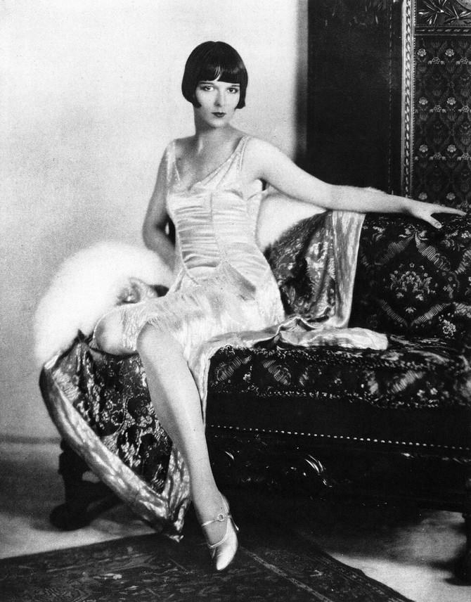 filmska glumica Luis Bruks obučena po modnim načelima 20-ih