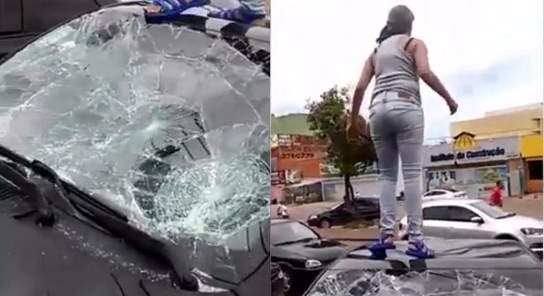 Woman damages her husband's car for cheating