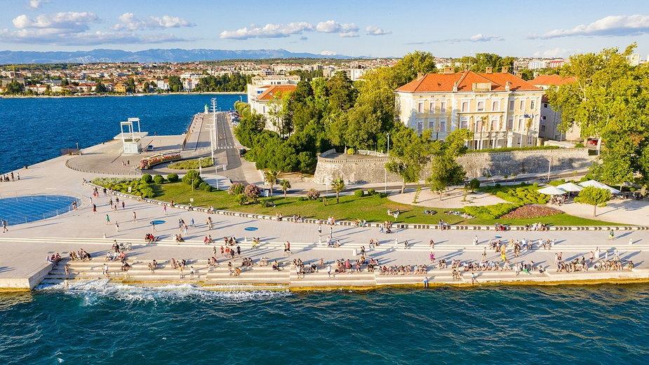 Morskie organy w Zadarze. Aby grać wykorzystują wiatr i fale