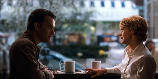 "Tom Hanks și Meg Ryan în ""You've Got Mail"""