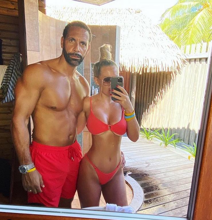 Rio Ferdinand i supruga Kejt
