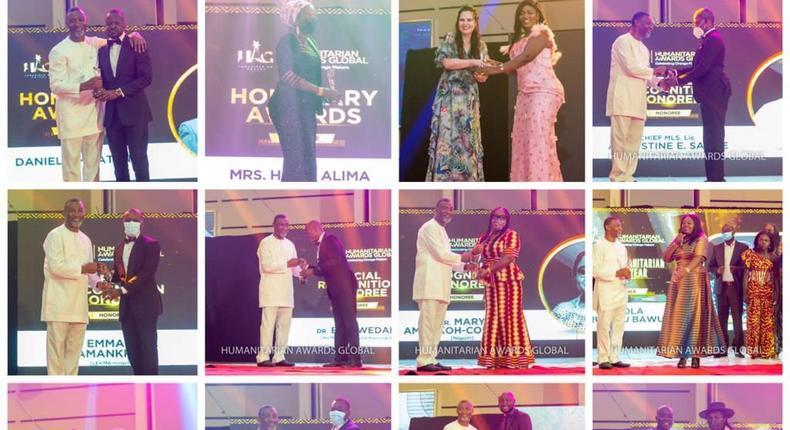 Winners at the Humanitarian Awards Global