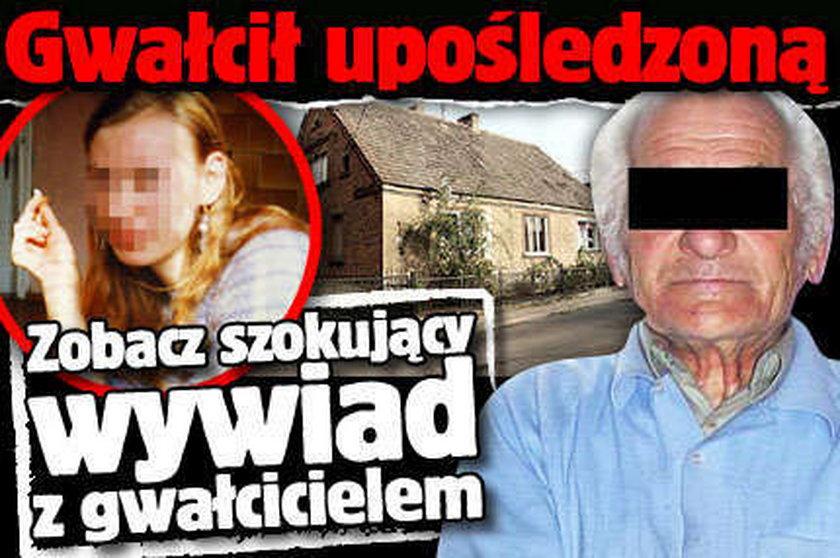 Gwałcił upośledzoną. Zobacz szokujący wywiad z gwałcicielem