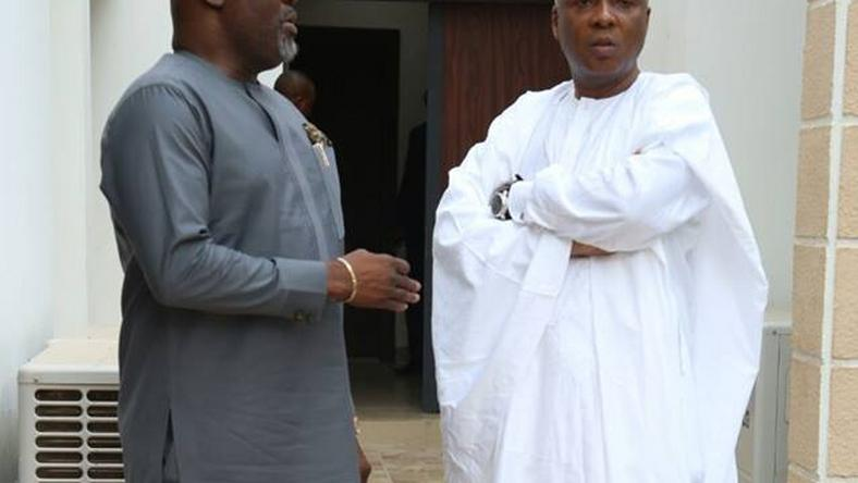 Senators Dino Melaye and Bukola Saraki