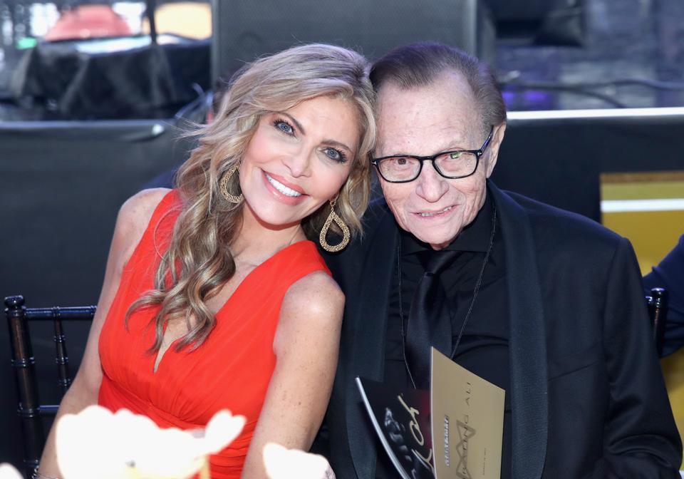 Larry King z żoną Shawn