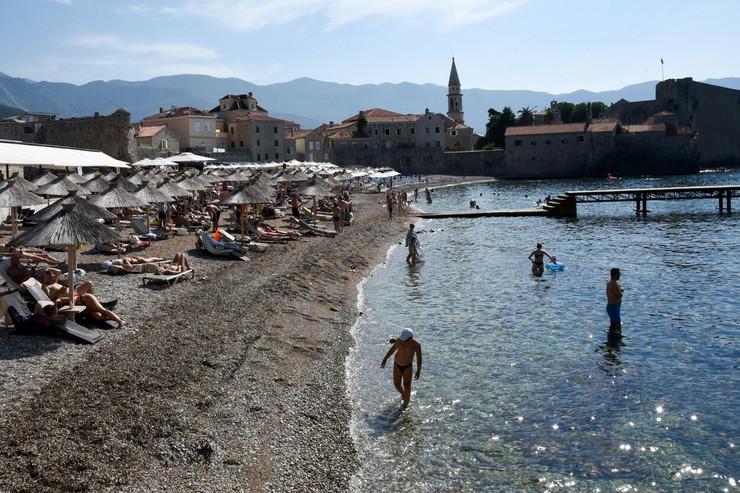 Cran Gora, plaža, crnogorsko primorje, avgust 2020.
