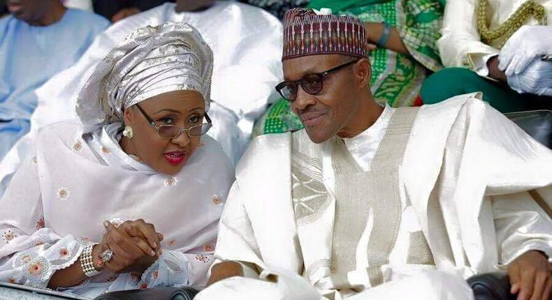Aisha and Muhammadu Buhari