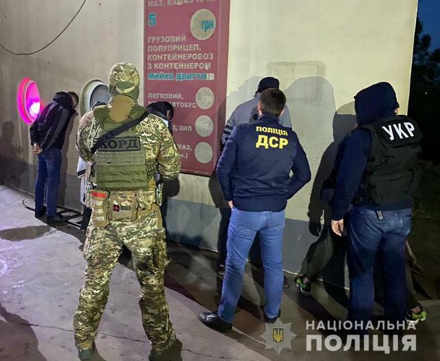 Rostislav Černobrivi (prvi s leva) i Balkanci uhapšeni prilikom bekstva ka Odesi