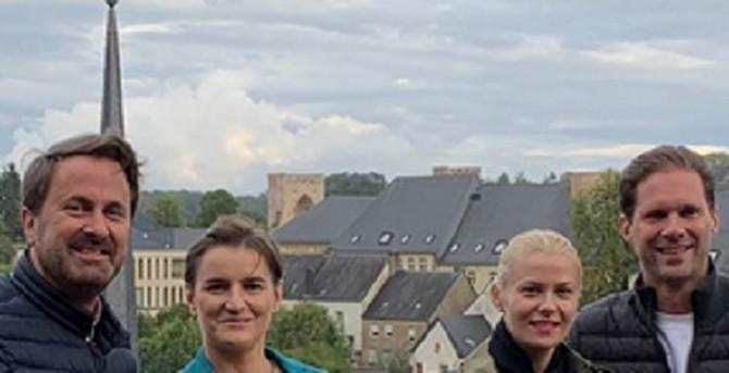 Ana Brnabić sa partnerkom Milicom Đurđić u poseti Luksemburgu