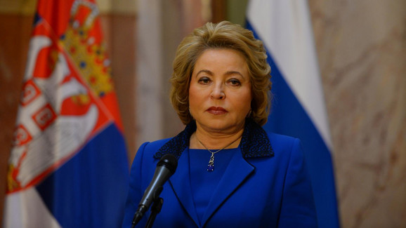 Valentina Matvijenko, Skupština Srbijie