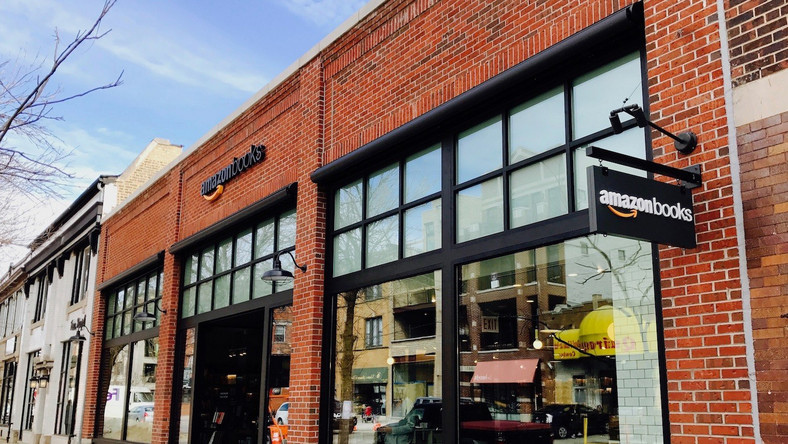 Amazon's new 6,000-square-foot bookstore is located in Chicago's upscale Lakeview neighborhood at 3441 N. Southport Ave.