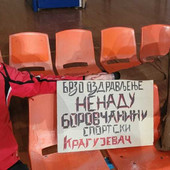 """""""Krstaši"""" silovito krenuli u ODBRANU TITULE! Ali, u prvom planu transparent Kragujevčana i poruka podrške Nenadu Borovčaninu"""