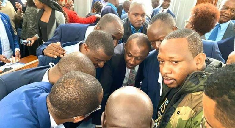 Magistrate Douglas Ogoti laughs at Senator Kipchumba Murkomen's understanding of the law during Governor Mike Sonko's corruption case