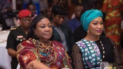 Rebecca Akufo-Addo presents refund cheque to state