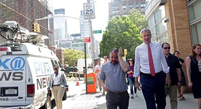 The power went out, where was De Blasio?