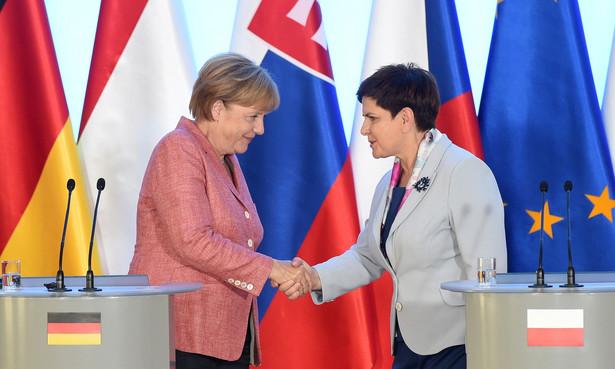 Premier RP Beata Szydło i kanclerz Niemiec Angela Merkel