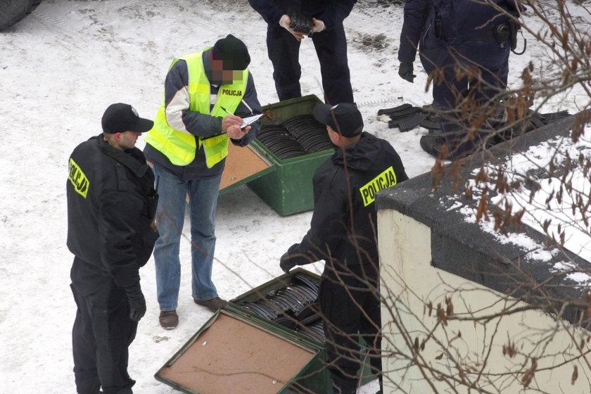 Śledczy na miejscu zbrodni w Gdańsku