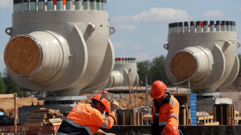 Budowa Nord Stream 2, obwód leningradzki, zdjęcie z czerwca 2019 roku